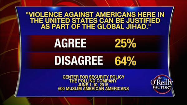 One in four Muslims in America approve of violence against America on behalf of jihad