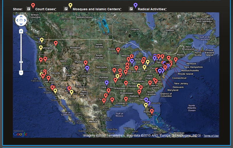 ATTENTION Are You Living In A Radical Mosque Zone In America - Terrorist training camps in us map