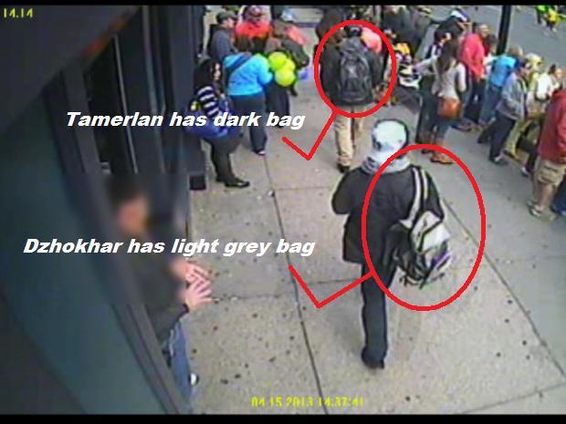Boston Marathon Bombers used backpacks