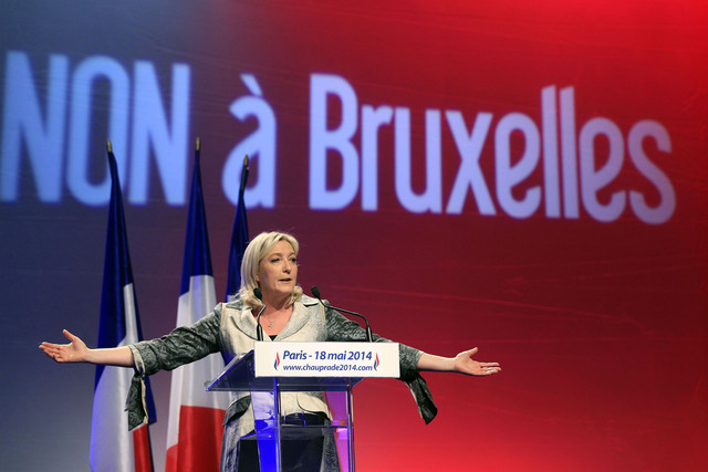 LePen favors breaking away from the EU