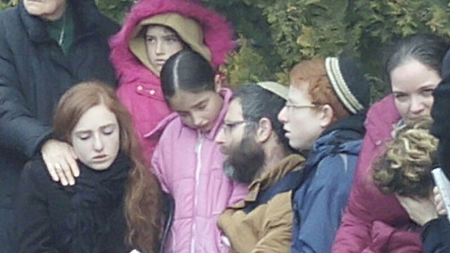 Meir Family grieves at the funeral
