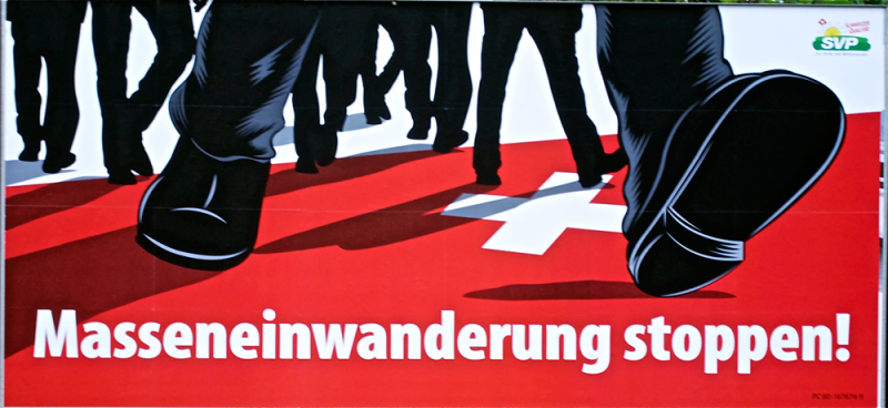 SWISS BILLOARD: Stop massive immigration