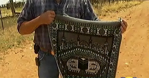 Muslim prayer rugs have been found all over the Southern border