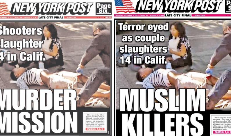 NY Post changed its original headline changed to MUSLIM KILLERS