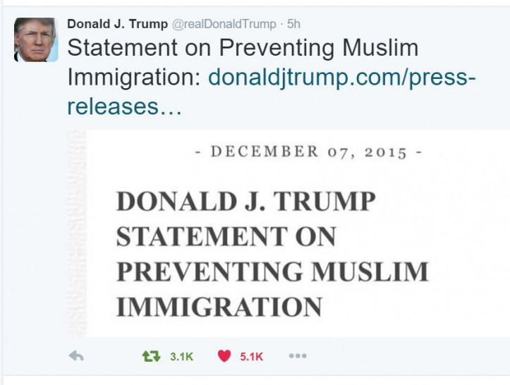 trump Muslim policy