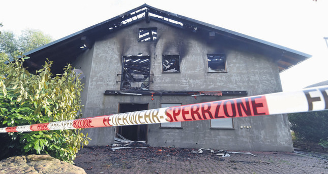 Fire at planned refugee home