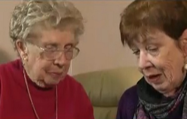 Myrtle Cothill (92) with her daughter Mary Wills at Wills' UK home