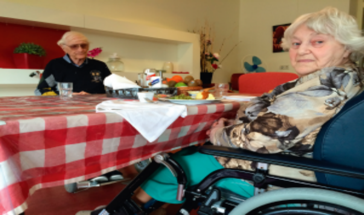 Diana Blog and her husband of 56 years Shmuel