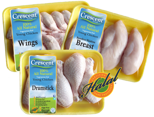 Crescent Foods Halal Young Whole Chicken     Lbs