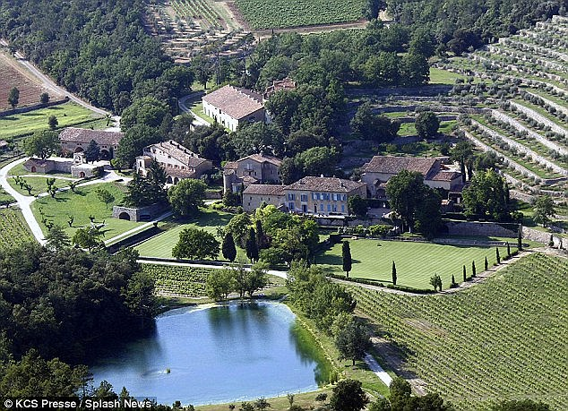 Jolie and Pitt renovated this £35million château in Brignoles, Provence in the south of France