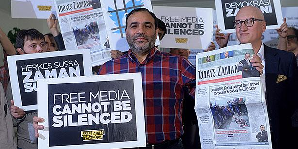 Turkish journalists were arrested for exposing Turkish government crimes of arming terrorists.