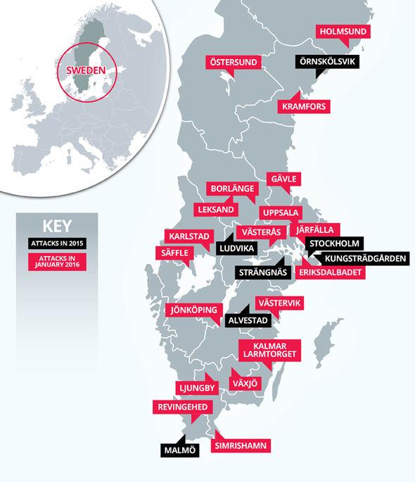 BLACK attacks in 2015 RED attacks in January 2016
