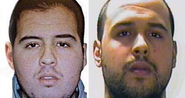 Brothers Brahim El Bakraoui (left) and Khalid El Bakraoui who carried out suicide bomb attacks in Brussels.