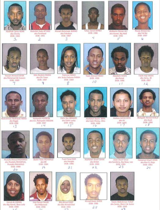 29 Somali Muslim sex traffickers and pimps arrested in the Minneapolis area