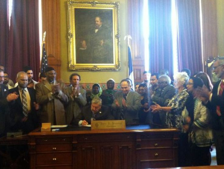 "Gov. Terry Branstad declared the day ""Muslim Recognition Day"""