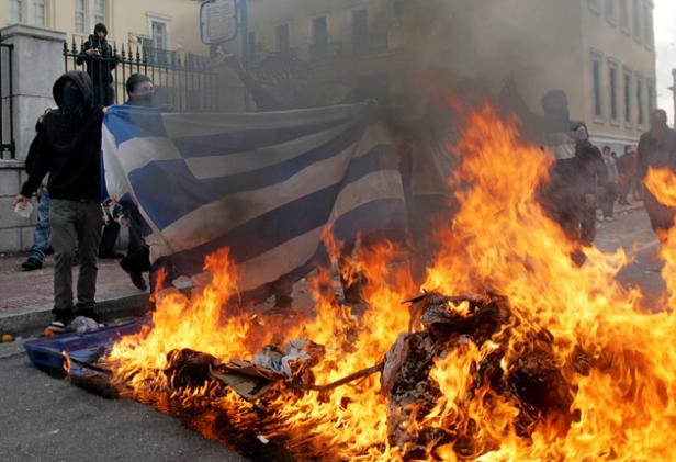 Muslims riot in Athens
