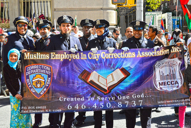 DeBlasio ordered the hiring of hundreds more Muslims for law enforcement