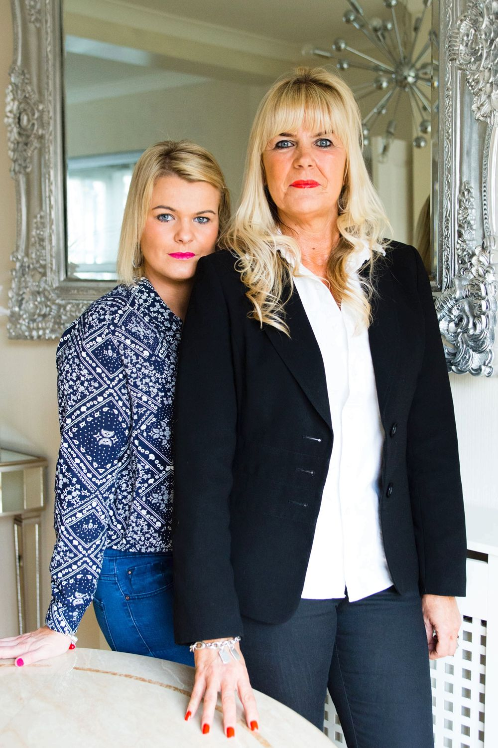 Leanne Oakham with her mother Debbie