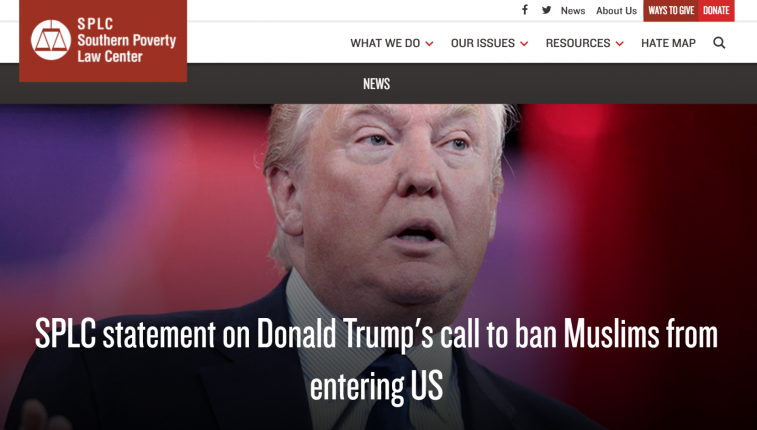 Donald Trump's call for a 'total and complete shutdown' of Muslims entering the United States is just the latest example of the extreme, anti-Muslim rhetoric that has reached a fever pitch this year. Trump relies on a debunked poll by the Center for Security Policy, headed by conspiracy theorist Frank Gaffney. This organization irresponsibly portrays all Muslims as extremists and is at the forefront of a well-funded effort to vilify Muslims in the United States with misinformation and demonizing rhetoric and to instill a climate of fear. The mainstreaming of hate and extremism is dangerous to the millions of peaceful Muslims in our country and harmful to the fabric of our society – our responsible political leaders should condemn this bigotry. — Heidi Beirich, Director of SPLC's Intelligence Project