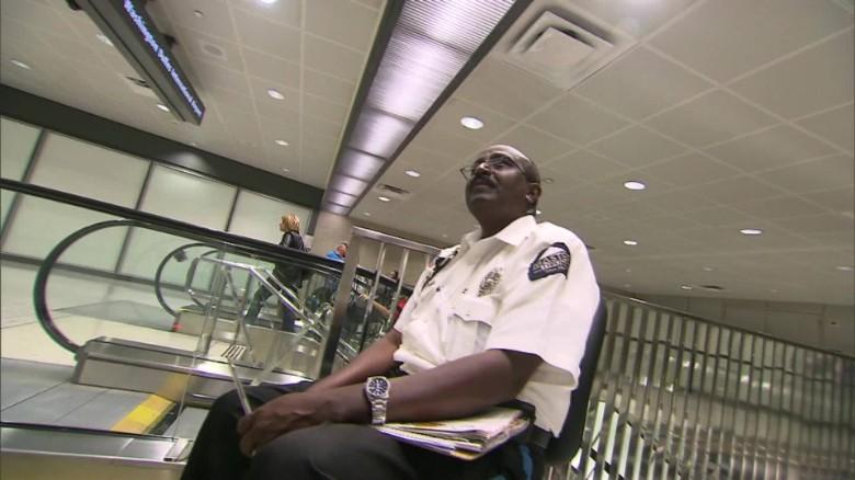 Yusuf Abdi Ali at work in Dulles International Airport