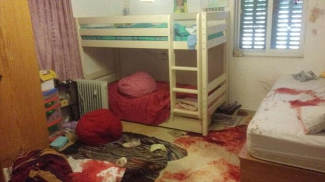 The victim's bedroom after the attack