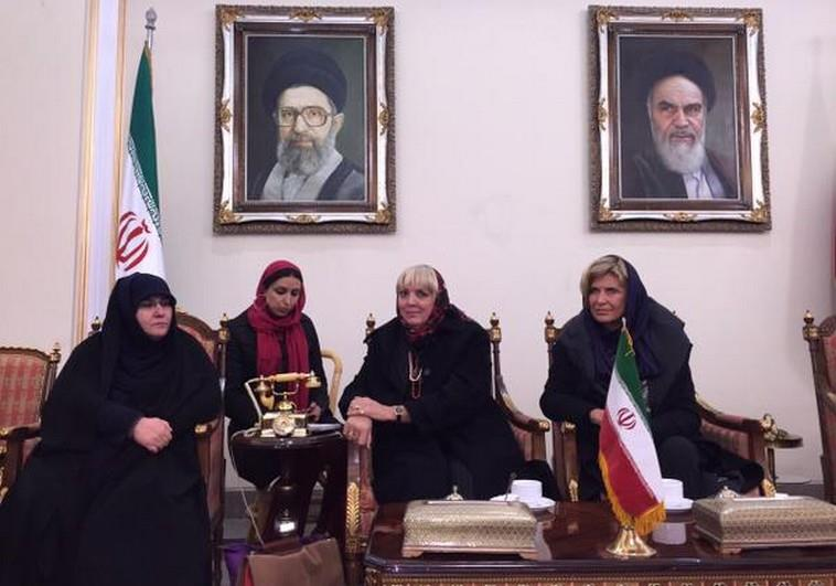 Bundestag Vice President Claudia Roth (Green Party), Dagmar Wöhrl (Christian Social Union party), the two women on the right. were slammed in Germany for meeting Iranian Holocaust denier, and hostage taker