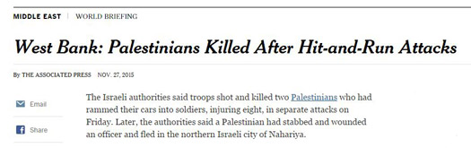 nyt palestinians killed after hit and run