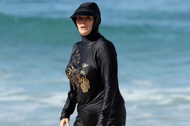£££-Nigella-Lawson-in-Full-Body-Swim-Suit