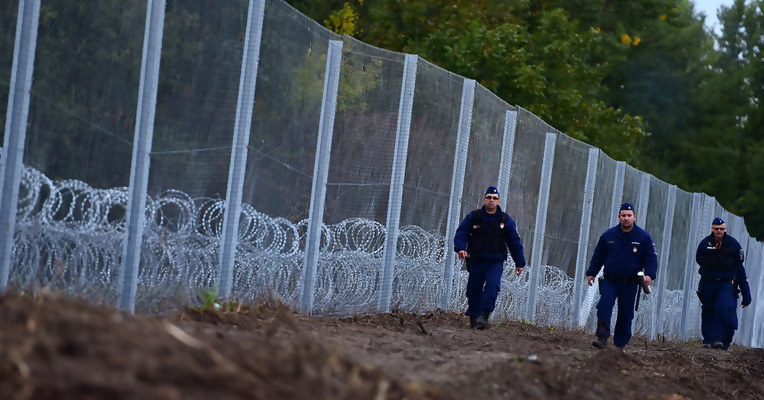 Hungary's recently erected border fence