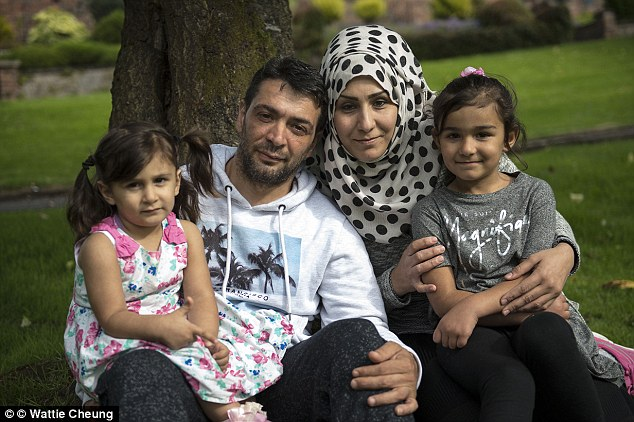 Rasha, 35, who lives with her husband Abd, 42, who lives with his wife and their four children,