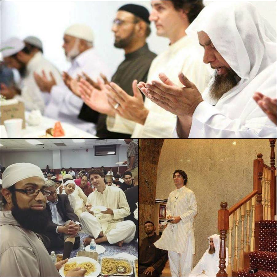 Seeing your Prime Minister praying in a mosque every other week makes Canadians nervous