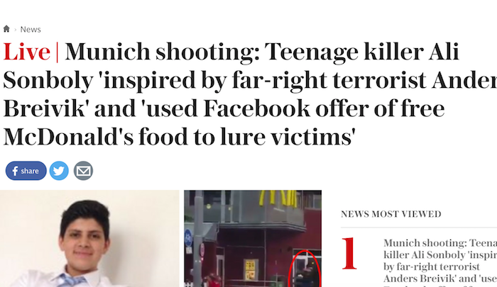 No, he wasn't, he was inspired by Isam to kill infidels