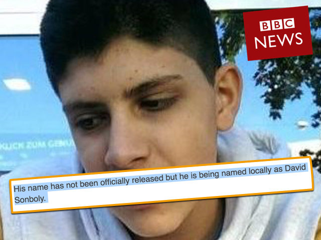 The BBC tried to leave out his first name so as to hide his Muslim identity