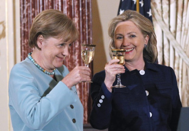 Birds of a feather, Merkel and Clinton, planning to flood their respective countries with millions more muslims