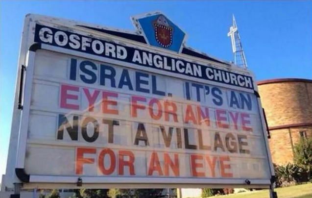 SAYS A CHURCH THAT HATES ISRAEL AND LOVES MUSLIM TERRORISTS