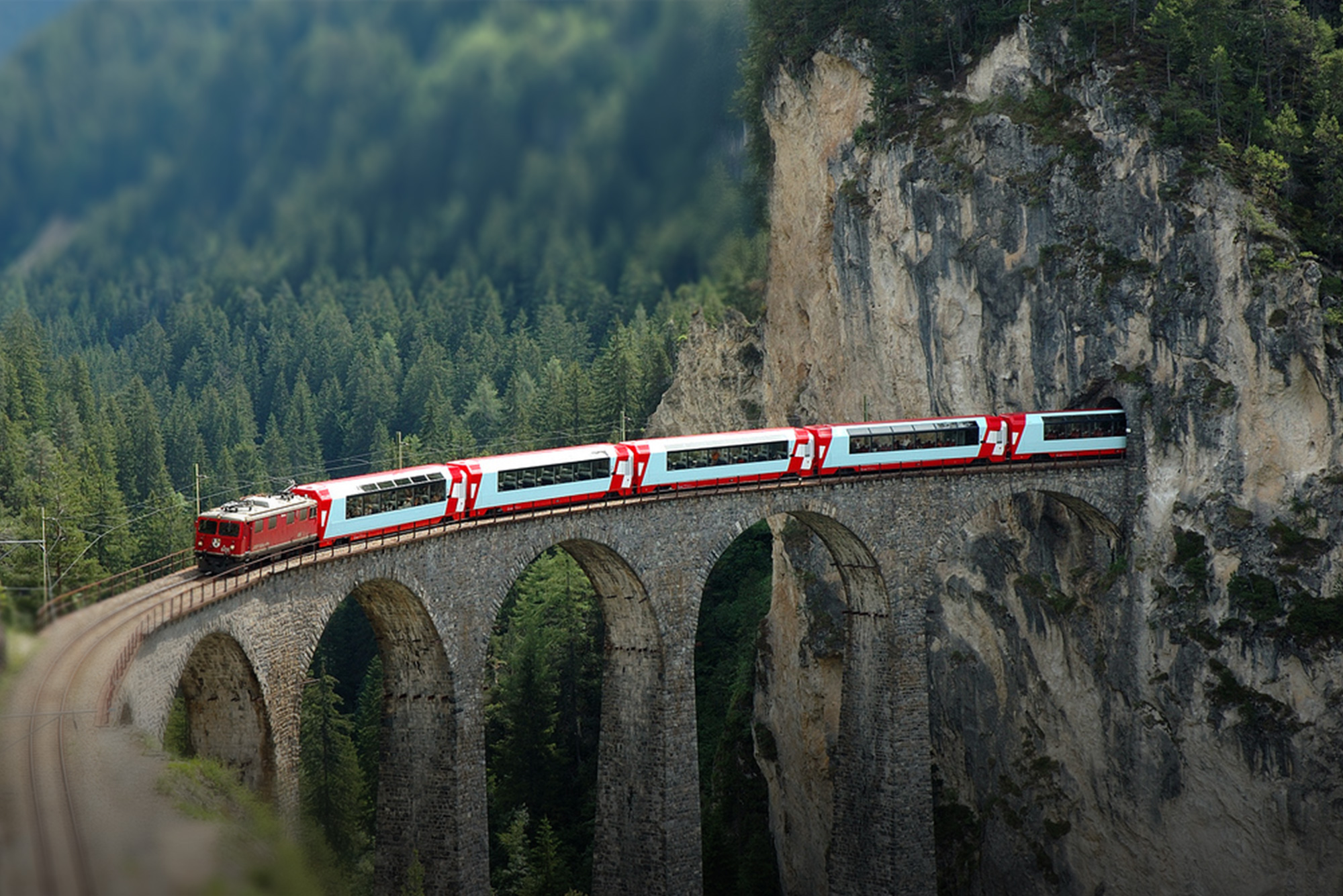 Perhaps it's all those pesky Swiss flag red crosses on the train that upset the attacker?