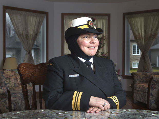 Wafa Dabbagh Muslim woman in the Canadian Navy, was the first member of the military to wear a hijab. Her latest challenge is battling cancer, diagnosed last summer. Buh Bye!