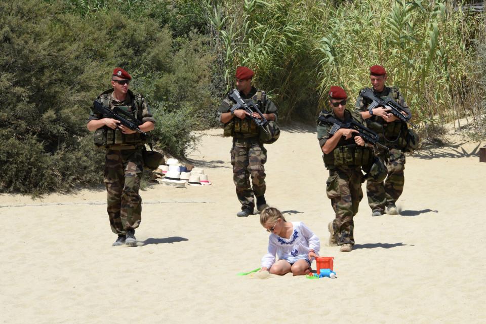 Armed police in St Tropez!