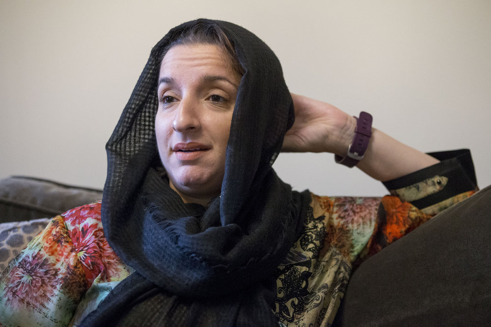 Tahmina Mansoor says Muslim women who wear the faith's traditional attire - the hijab, or headscarf - typically have negotiated a more heightened scrutiny since the 9/11 terror attacks.