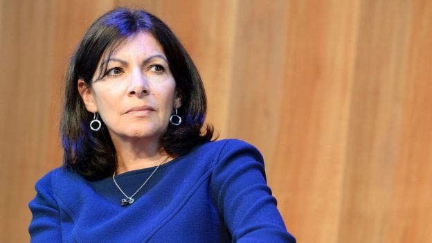 "Paris Mayor Anne Hidalgo said the fire at a planned asylum centre was a ""detestable"" act"