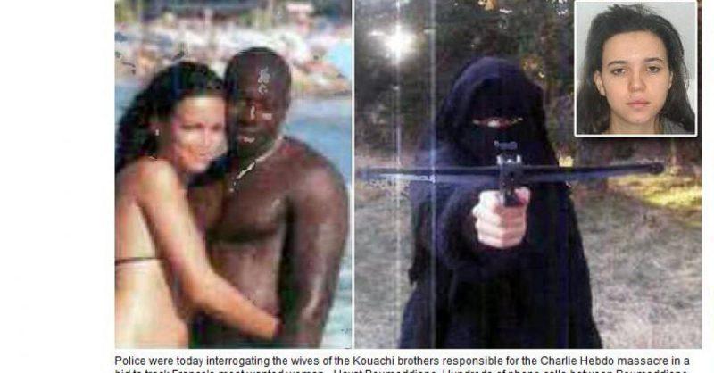 French woman marries Muslim terrorist (behind slaughter in Kosher bakery in Paris) becomes Muslim terrorist herself