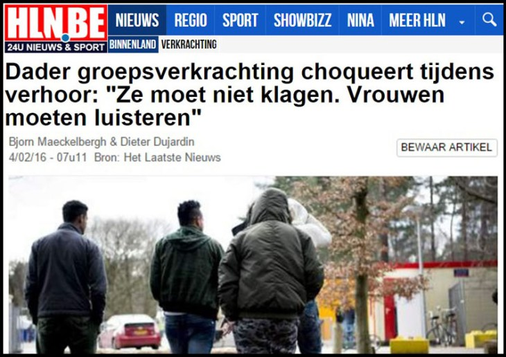 """""""Rape is the most natural thing in the world,"""" and """"women must obey men,"""" were just two of the defenses offered by some of the seven Muslim invaders recently arrested for a gang rape of an unconscious 17-year-old white girl in Ostend, Belgium"""