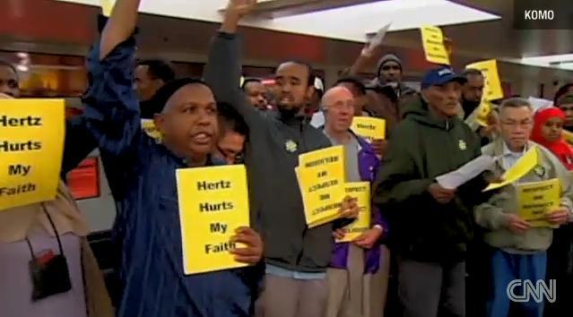 hertz-workers-protest