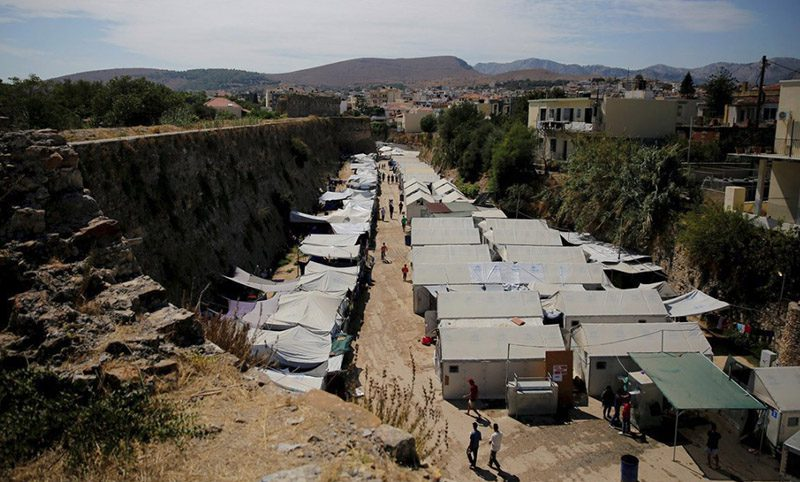 The Souda Muslim invader camp prior to the counter attack. It was from here that the invaders launched fireworks into the surrounding Greek residential neighborhood.
