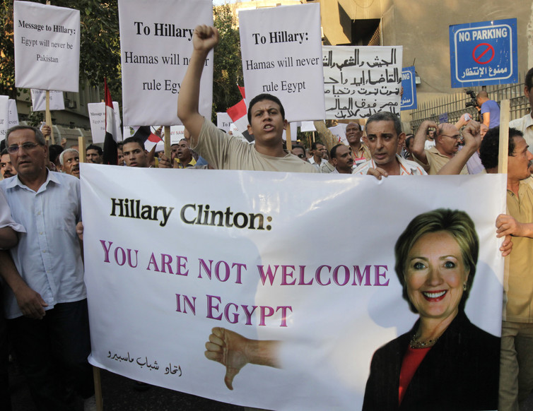 Hillary Clinton is hated in Egypt for helping to put Mohamed Morsi in office