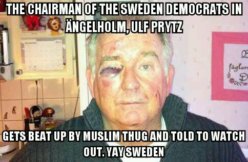 Muslims beating up Swedes in Sweden has soared because of mass Muslim migration