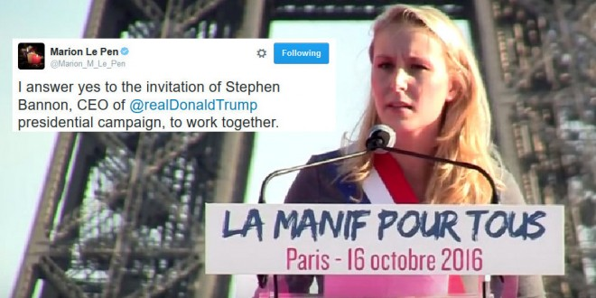 Maron Le Pen, Marine's daughter is following in her mother's footsteps