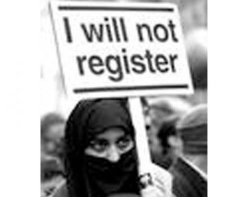 Leftist sympathizers pledging to register as Muslims if