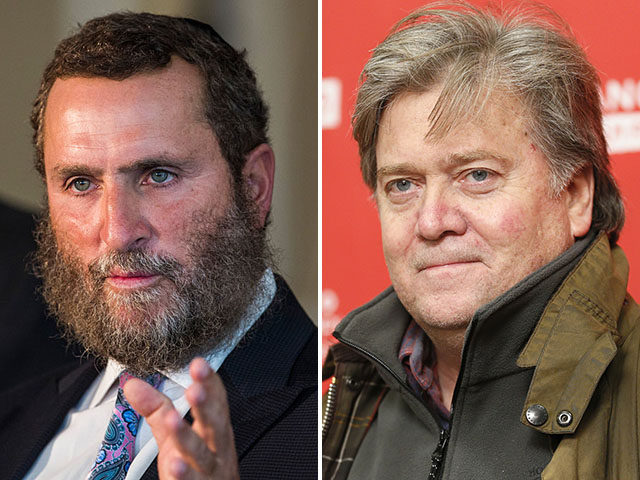 Rabbi Shmuley Boteach and Steve Bannon