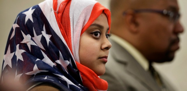 Faateha Syed, in creating a Muslim supremacist headbag out of an American flag doesn't care that she is insulting the national symbol of America